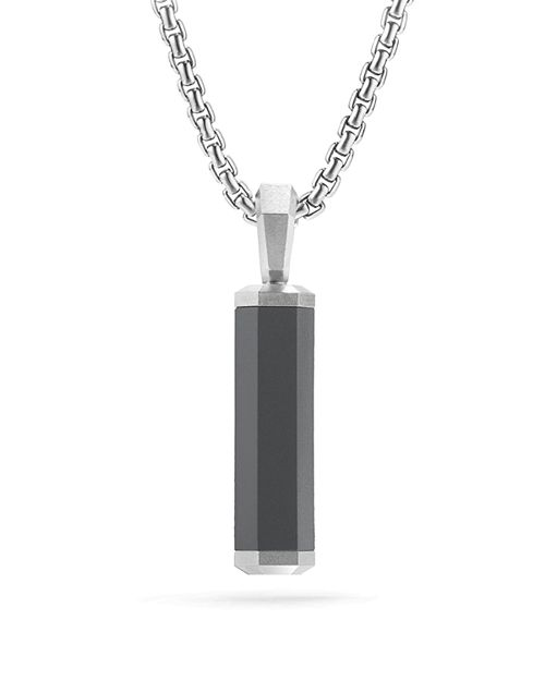 David Yurman - Men's Hex Pendant in Gray
