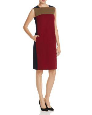Lafayette 148 New York Zandra Color Block Wool Sheath Dress