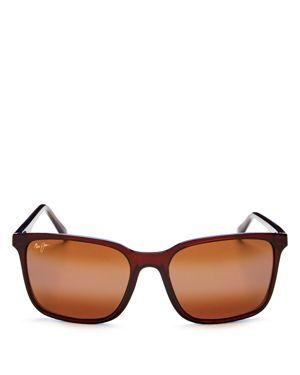 Maui Jim Wild Coast Polarized Mirrored Square Sunglasses, 59mm
