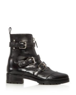 Tabitha Simmons Women's Alex Leather Triple Strap Pointed Toe Booties 2d93U12WKe