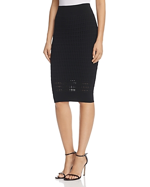 T by Alexander Wang Float-Stitch Pencil Skirt