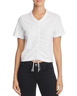 T by Alexander Wang Ruched Short Sleeve Tee