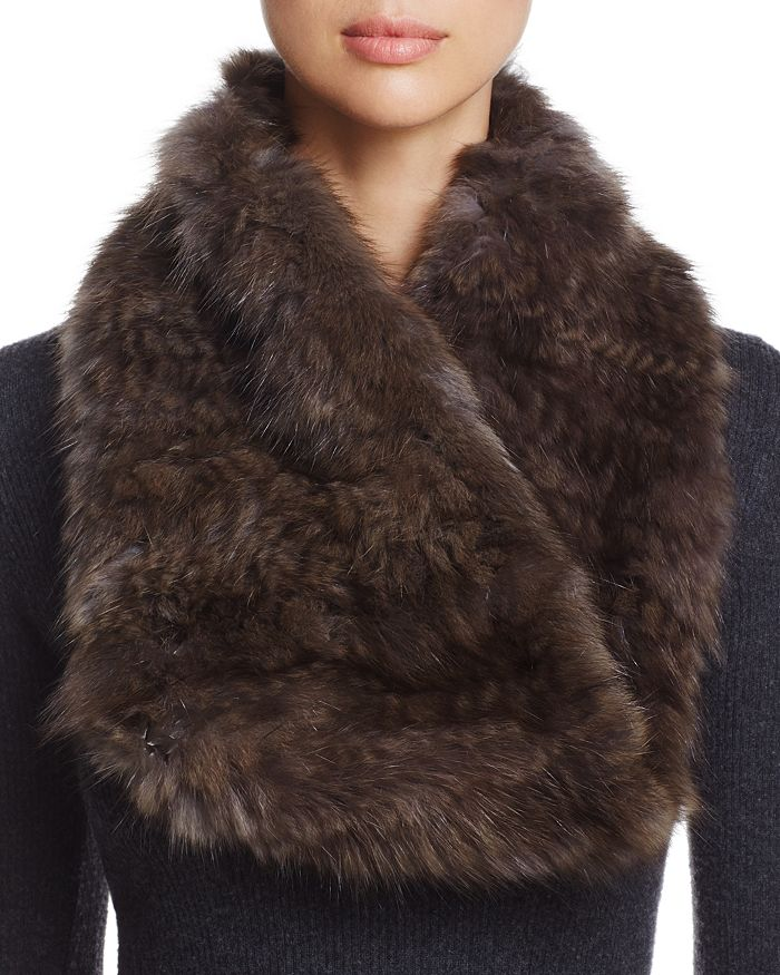 Maximilian Furs - Sable Fur Knit Scarf - 100% Exclusive