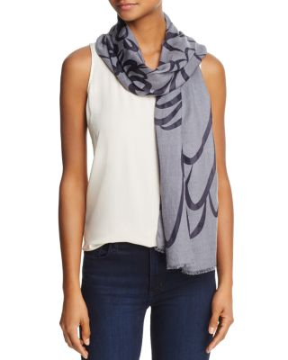 FRAAS TWO-TONE SCROLL SCARF