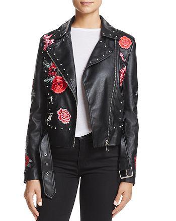 Bagatelle - Embellished Faux-Leather Moto Jacket