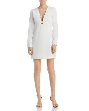 Aqua Scalloped Shift Dress - 100% Exclusive