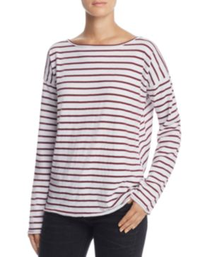 Outlet With Mastercard Outlet Pictures Rag & Bone Striped Long Sleeve Top Clearance Wholesale Price Countdown Package Cheap Online DeWAqsGV