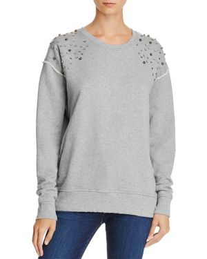 Joe's Jeans Studded-Shoulder Sweatshirt - 100% Exclusive 2720678