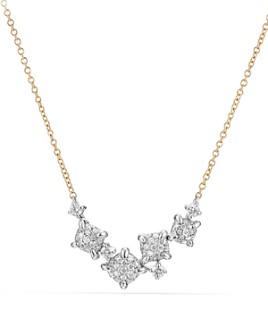 David Yurman - Precious Châtelaine Necklace with Diamonds in 18K Gold