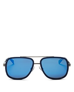 Polaroid - Men's Top Bar Navigator Sunglasses, 57mm