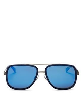 Polaroid - Men's Top Bar Navigator Sunglasses, 57mm