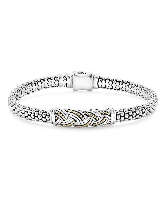 LAGOS - 18K Gold & Sterling Silver Torsade Small Station Bracelet