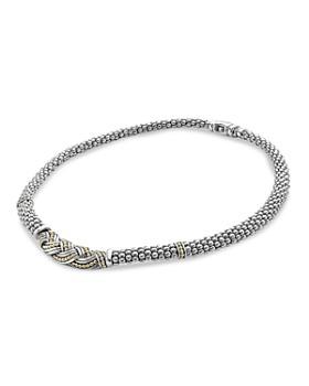 "LAGOS - 18K Gold & Sterling Silver Torsade Rope Necklace, 18"""