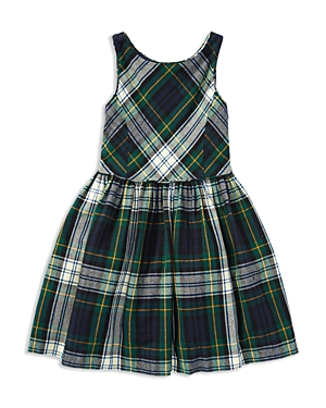 Ralph Lauren Childrenswear Girls' Flannel Fit-and-Flare Dress - Little Kid