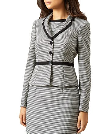 HOBBS LONDON - Sian Cropped Houndstooth Jacket