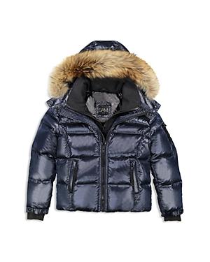Sam. Boys' Fur-Trimmed Puffer Jacket - Little Kid