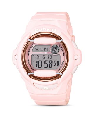G-SHOCK WOMEN'S ANALOG-DIGITAL PINK RESIN STRAP WATCH 43MM