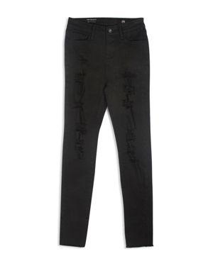 ag Adriano Goldschmied Kids Girls' Distressed High-Rise Skinny Jeans - Big Kid