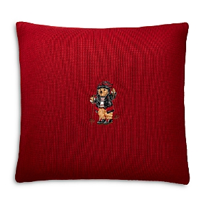 Ralph Lauren Skier Bear Decorative Pillow, 18 x 18