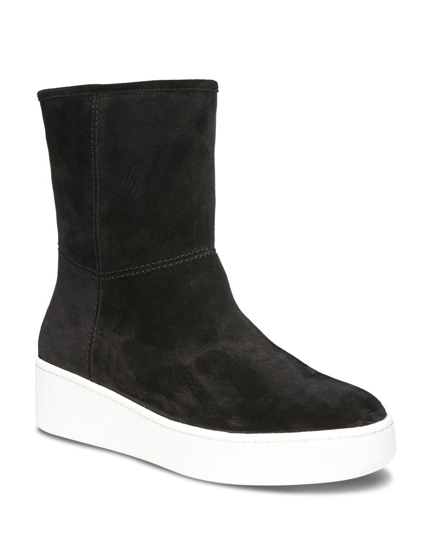 Via Spiga Women's Elona Suede & Fur Platform Sneaker Boots