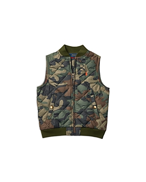 Ralph Lauren Childrenswear Boys Matte Microfiber Quilted Vest  Little Kid