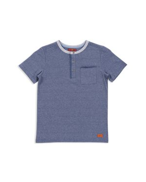 7 For All Mankind Boys' Short-Sleeve Henley Tee - Little Kid