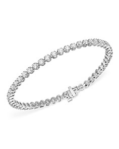 Bloomingdale's - Diamond Tennis Bracelet in 14K White Gold, 4.0 ct. t.w. - 100% Exclusive
