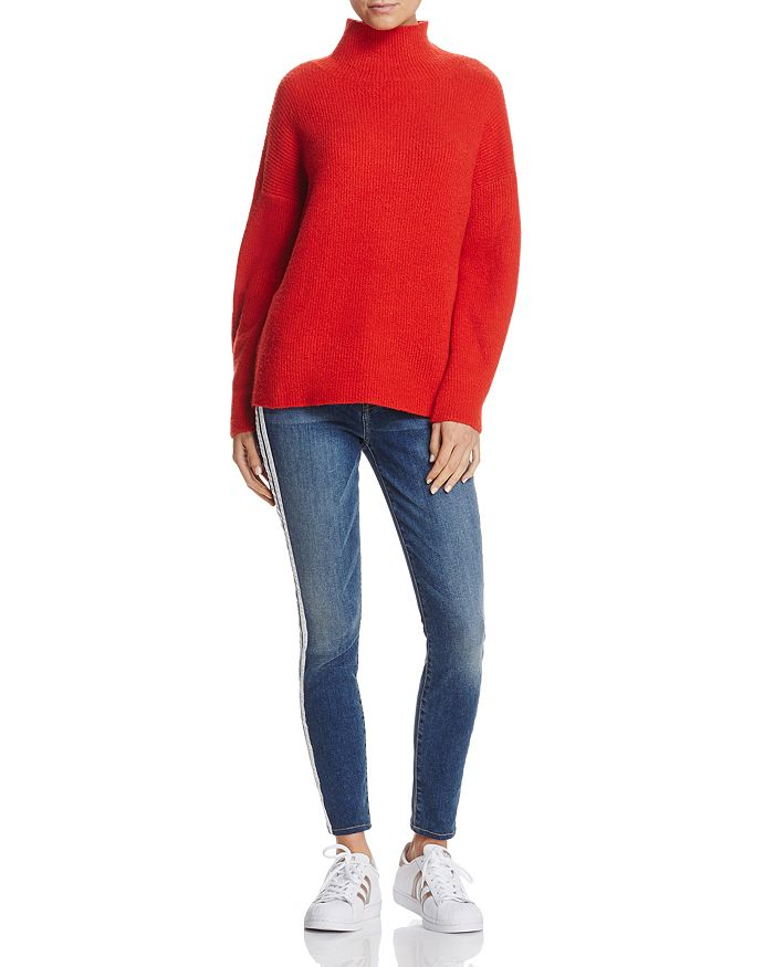 FRENCH CONNECTION - Urban Flossy Sweater & 7 For All Mankind WeWoreWhat X Bloomingdale's Striped Skinny Jeans - 100% Exclusives