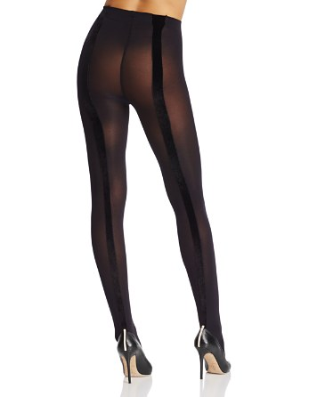 $Pretty Polly Velvet Back Seam Tights - Bloomingdale's