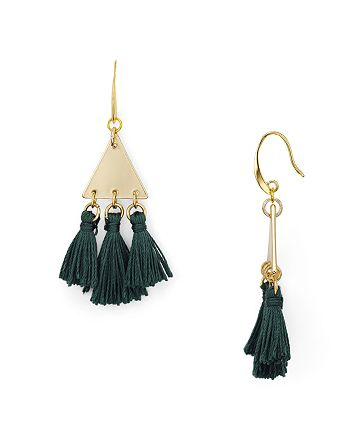 Rebecca Minkoff - Tri-Tassel Chandelier Earrings
