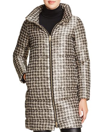 Herno - Houndstooth Long Down Coat