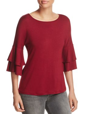 Alison Andrews Tiered-Sleeve Top