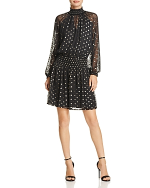 Velvet by Graham & Spencer Verna Metallic Dot Dress