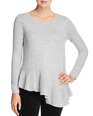 Joie Tambrel N Asymmetric Peplum Hem Wool & Cashmere Sweater