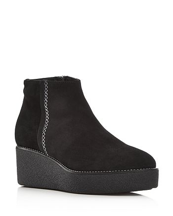 Aquatalia - Women's Verucca Weatherproof Suede Platform Wedge Booties