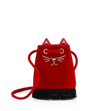 Charlotte Olympia Feline Small Bucket Bag