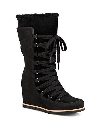 UGG® - Women's Mason Waterproof Suede Mid Calf Wedge Boots