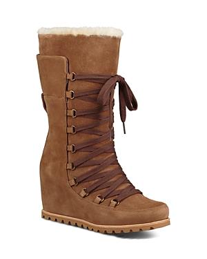 Ugg Women's Mason Waterproof Suede Mid Calf Wedge Boots