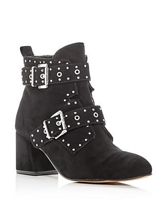 Logan Buckle Block Heel Ankle Boots dAziFDe