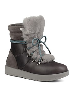 UGG® - Vicki Waterproof Leather & Sheepskin Boots