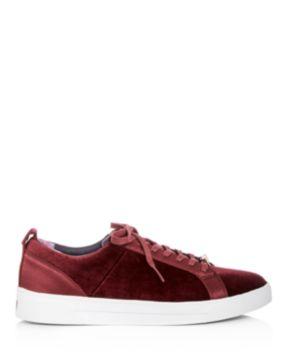 Ted Baker Women's Kuleib Velvet & Satin Lace Up Sneakers 0iw7hA7Uq