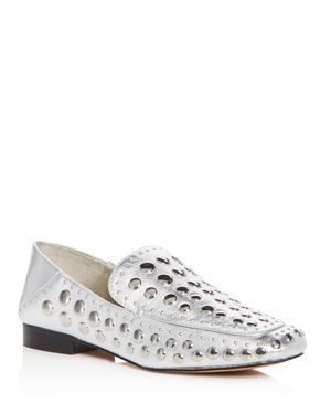 1.state Women's Flintia Embellished Leather Apron Toe Loafers