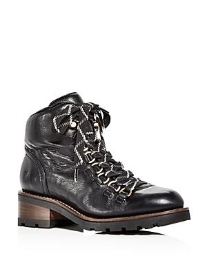 Frye Women's Alta Leather Mid Heel Hiking Booties