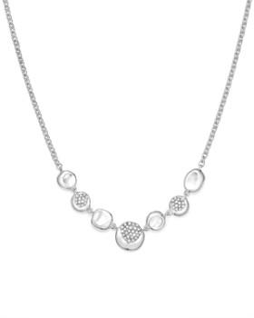 "IPPOLITA - Sterling Silver Onda Diamond Frontal Station Necklace, 16"""