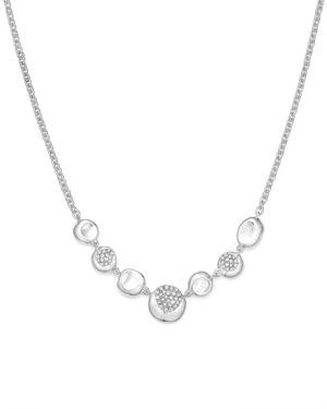 Ippolita Sterling Silver Onda Diamond Frontal Station Necklace, 16