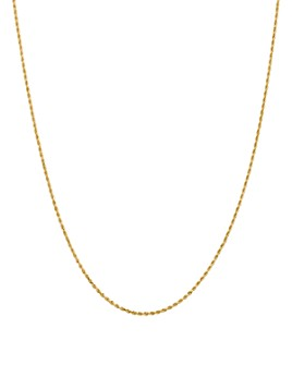 Bloomingdale's - 14K Yellow Gold 1.5mm Diamond Cut Rope Chain Necklace - 100% Exclusive