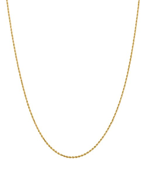"""Bloomingdale's - 14K Yellow Gold 1.5mm Diamond Cut Rope Chain Necklace, 16"""" - 100% Exclusive"""