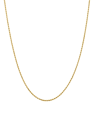 Bloomingdale's 14K Yellow Gold 1.5mm Diamond Cut Rope Chain Necklace, 18 - 100% Exclusive