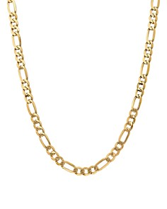 Bloomingdale's - Bloomingdale's 14K Yellow Gold 7mm Flat Figaro Chain Necklace - 100% Exclusive