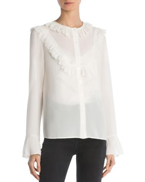 The Kooples Ruffled Flare-Cuff Shirt